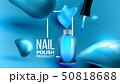 ブルー 青色 ネイルのイラスト 50818688