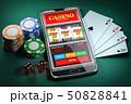 Online casino and gambling concept. Slot machine 50828841
