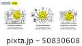 Set of illustrations concept with businessmen 50830608