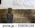 Medieval old book, psalter 50836198