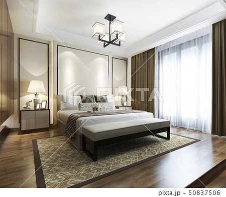 chinese modern bedroom suite in hotel  50837506