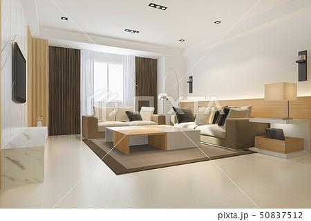 loft luxury living room with  minimal shelf 50837512