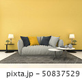 mock up yellow wall in living room with sofa 50837529