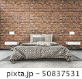 loft brick mock up bedroom in scandinavian style 50837531