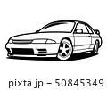 懐かしめ国産スポーツカー  塗り絵風 自動車イラスト 50845349
