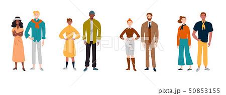 Portrait of multiracial diverse people. Couples, friends, business, colleagues. 50853155