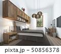 寝室 現代 インテリアのイラスト 50856378
