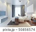 デザイン 柄 ベッドルームのイラスト 50856574