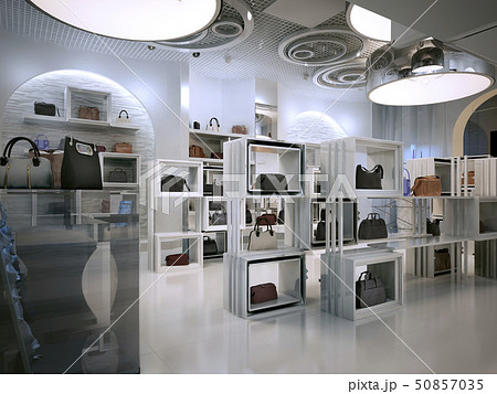Luxury store interior design art deco style with 50857035