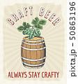 Craft beer vintage poster 50863196