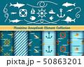 Boys nautical scrapbook elements 50863201
