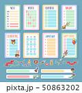 Planner template set 50863202
