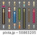 Zippers and pulls set 50863205
