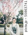春 女性ポートレート 50863741