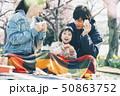 桜 春 親子 お花見 50863752