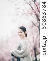 春 女性ポートレート 50863784