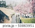春 女性ポートレート 50863951