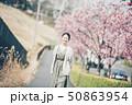 春 女性ポートレート 50863954