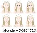 メイクをしている女性のイラスト 50864725