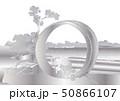 葛飾北斎イメージ尾州不二見原銀白バック 50866107