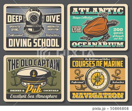 Diving school, oceanarium nautical adventure 50866808