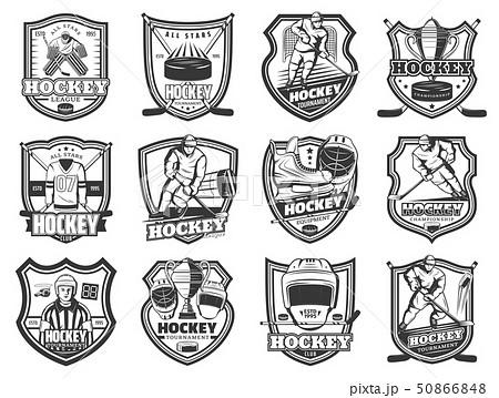 Ice hockey sport tournament, team league badges 50866848