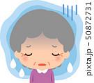 憂鬱そうな表情のシニア女性 50872731