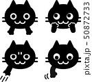 猫の顔と手のアイコンセット 50872733