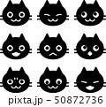 猫の顔のアイコンセット 50872736