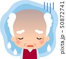 憂鬱そうな表情のシニア男性 50872741