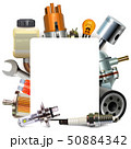 Vector Blank Frame with Automotive Parts 50884342