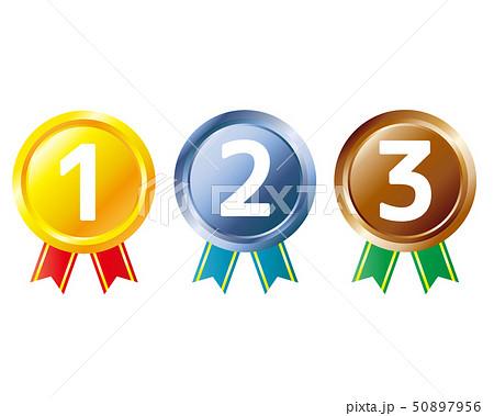 数字 リボン ランキング メダル 50897956
