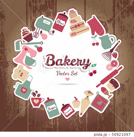 bakery and sweets abstract illustration. 50921097