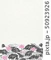 ハス-花-和紙 50923926