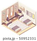 Vector isometric dormitory or dorm room 50952331