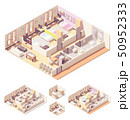 Vector isometric dormitory or dorm room 50952333