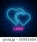Vector illuminated neon light icon sign heart love 50955404