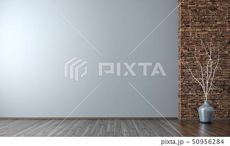 Interior of empty room background 3d render 50956284