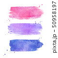Watercolor brushstrokes banners collection  50958197