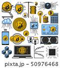 仮想通貨 ビットコイン ベクトルのイラスト 50976468