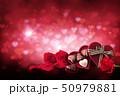 バックグラウンド チョコ お花のイラスト 50979881