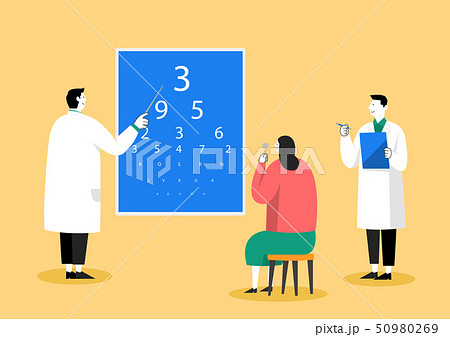 Medical check-up, health care concept vector illustration 004 50980269