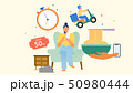 ライフスタイル ショッピング スマフォのイラスト 50980444