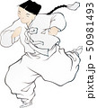 Illustration of characters in Korean folk painting. 007 50981493