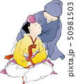 Illustration of characters in Korean folk painting. 001 50981503