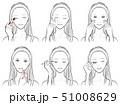メイクをしている女性のイラスト 51008629