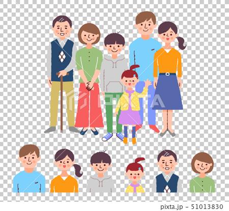 3世代家族3 集合+顔 カラー 51013830