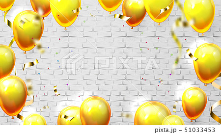 Template With Balloons For Card Invitation Vector 51033453