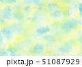 水彩 水色 黄色 夏イメージ 背景イラスト 51087929
