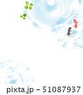 金魚 夏イメージ 背景イラスト 51087937